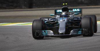 Bottas takes pole as Hamilton crashes out